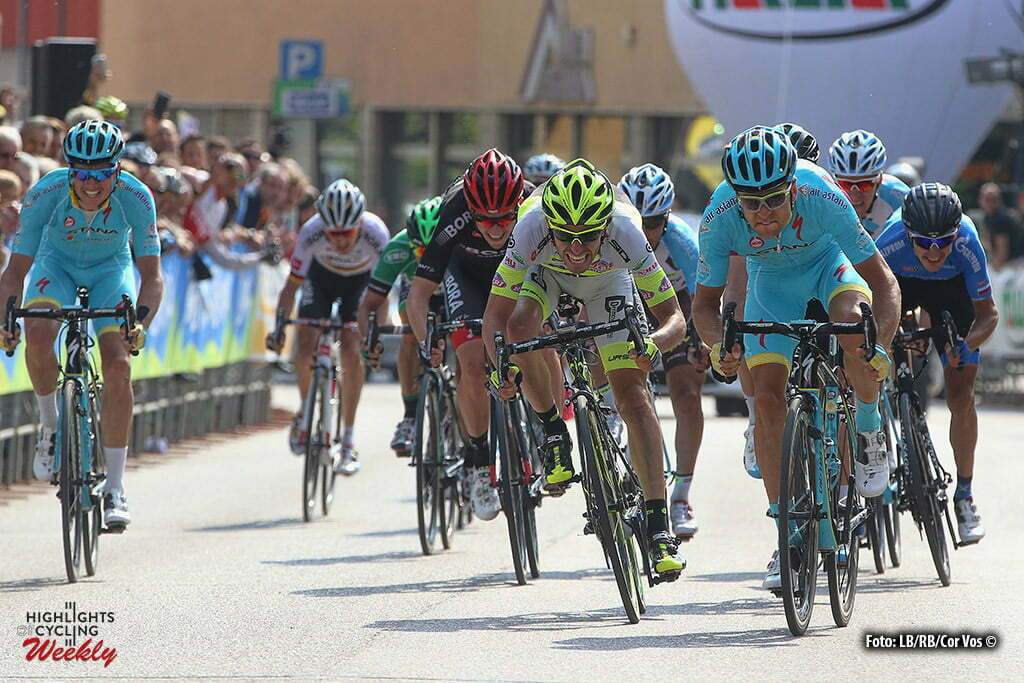 Cles - Italy - wielrennen - cycling - radsport - cyclisme - Tanel Kangert (Astana) pictured during Giro del Trentino Melinda 2016 - stage 4 from from Male to Cles 160,9 km - photo LB/RB/Cor Vos © 2015