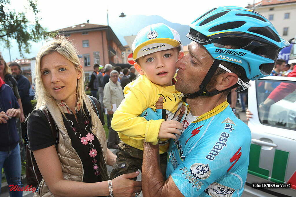 Cles - Italy - wielrennen - cycling - radsport - cyclisme - Michele Scarponi (Astana) pictured during Giro del Trentino Melinda 2016 - stage 4 from from Male to Cles 160,9 km - photo LB/RB/Cor Vos © 2015