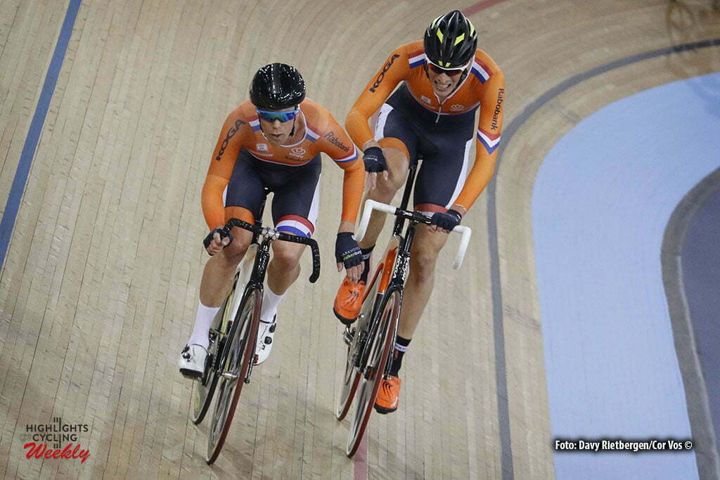 London - Great Brittain - wielrennen - cycling - radsport - cyclisme - Men's Madison - Wim Stroeringa - Dion Beukenboom pictured during Worldchampionships Track 2016 in London (GBR) - photo Davy Rietbergen/Cor Vos © 2016