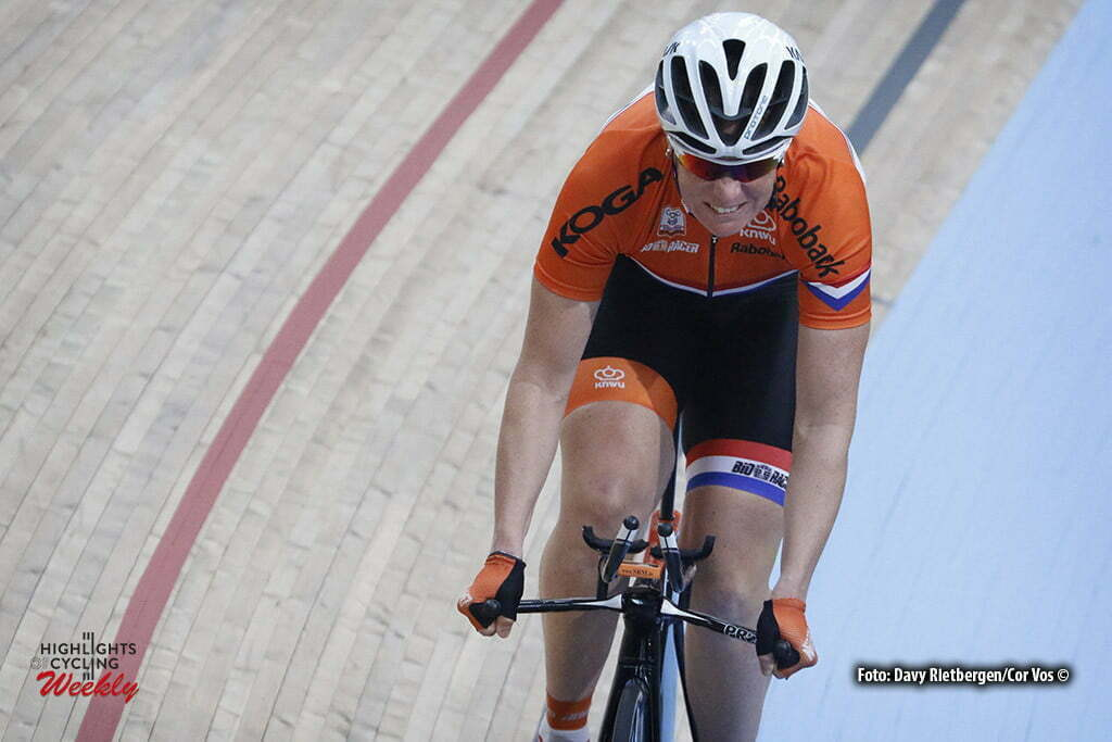London - Great Brittain - wielrennen - cycling - radsport - cyclisme - Kirsten Wild (Netherlands) training pictured during Worldchampionships Track 2016 in London (GBR) - photo Davy Rietbergen/Cor Vos © 2016