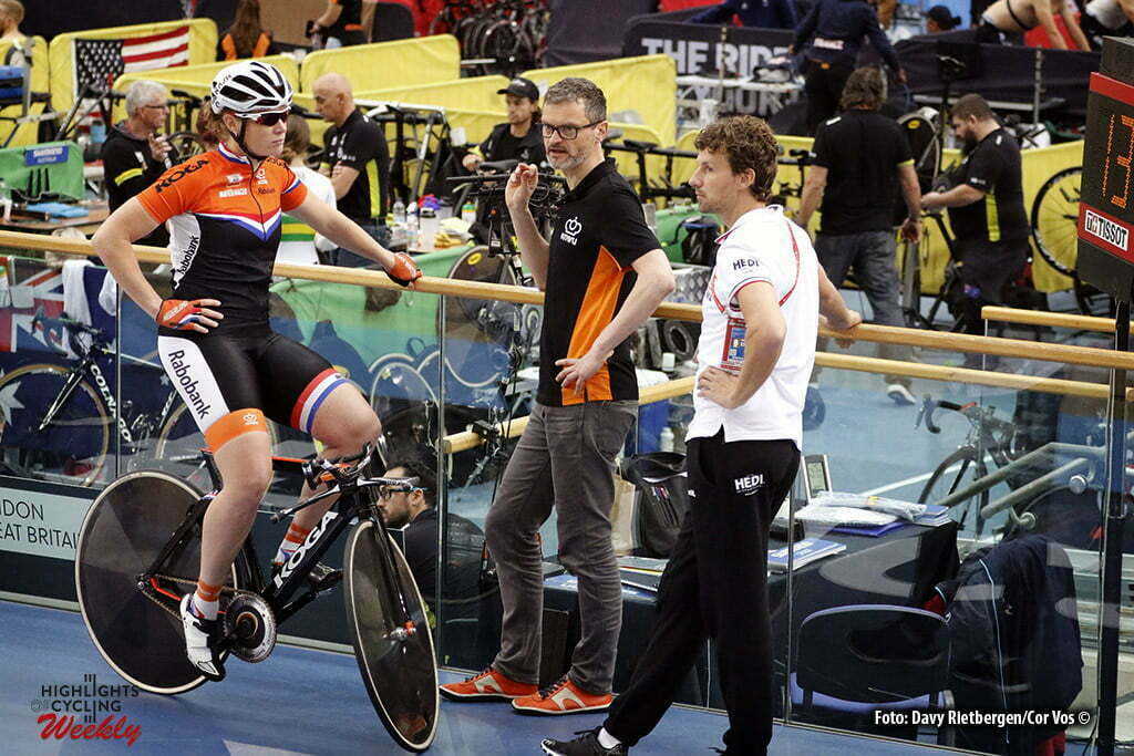 London - Great Brittain - wielrennen - cycling - radsport - cyclisme - Kirsten Wild (Netherlands) - Jabik Jan Bastiaans (Netherlands) - Peter Schep (Netherlands) training pictured during Worldchampionships Track 2016 in London (GBR) - photo Davy Rietbergen/Cor Vos © 2016