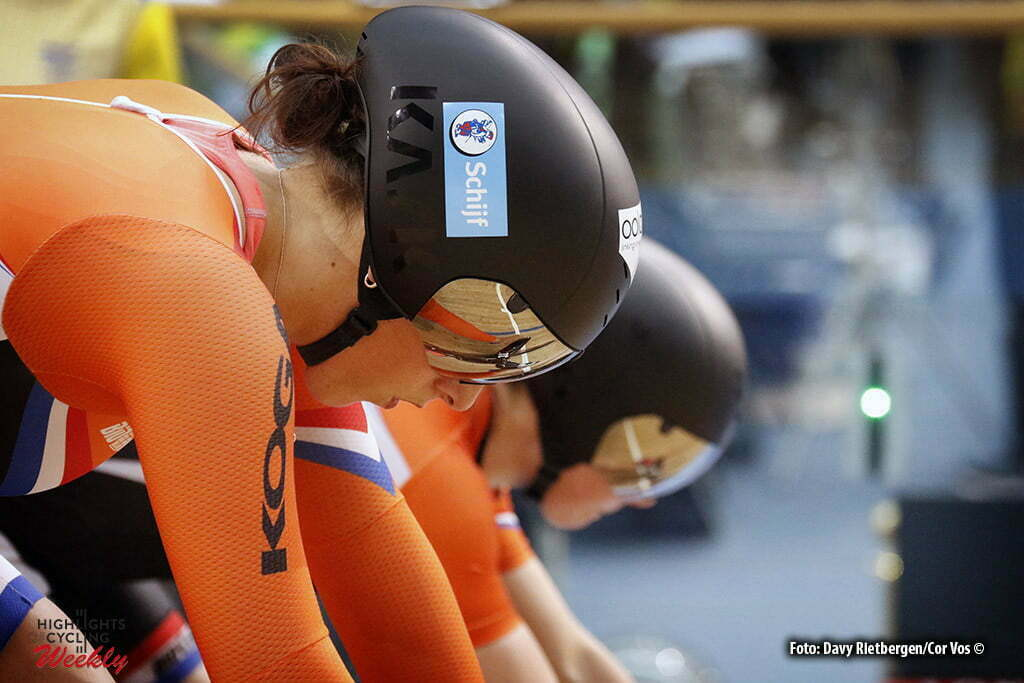 London - Great Brittain - wielrennen - cycling - radsport - cyclisme - Elis Ligtlee (Netherlands) - Laurine van Riessen (Netherlands) training pictured during Worldchampionships Track 2016 in London (GBR) - photo Davy Rietbergen/Cor Vos © 2016