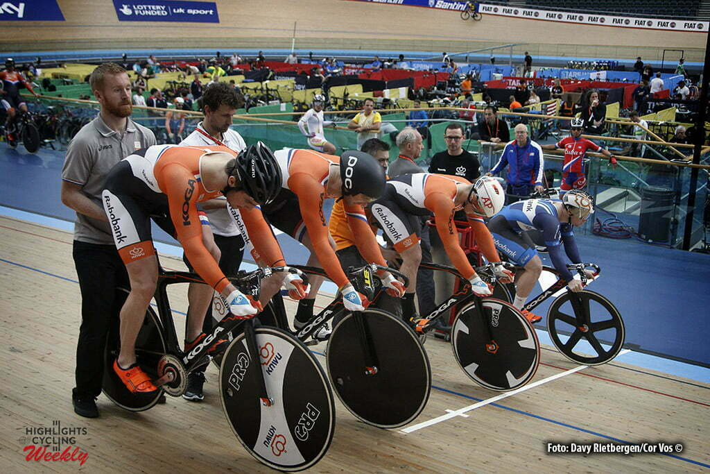 London - Great Brittain - wielrennen - cycling - radsport - cyclisme - Netherlands training pictured during Worldchampionships Track 2016 in London (GBR) - photo Davy Rietbergen/Cor Vos © 2016