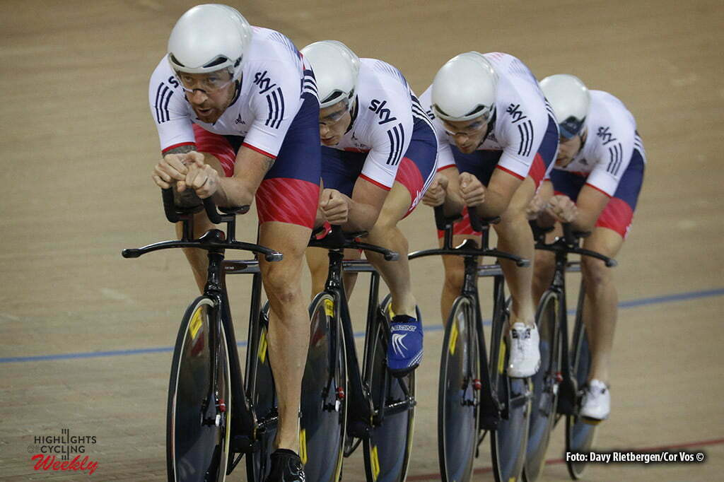 London - Great Brittain - wielrennen - cycling - radsport - cyclisme - Men's Team Persuit - Bradley Wiggens - Jonathan Dibben - Steven Burke - Owain Doull pictured during Worldchampionships Track 2016 in London (GBR) - photo Davy Rietbergen/Cor Vos © 2016