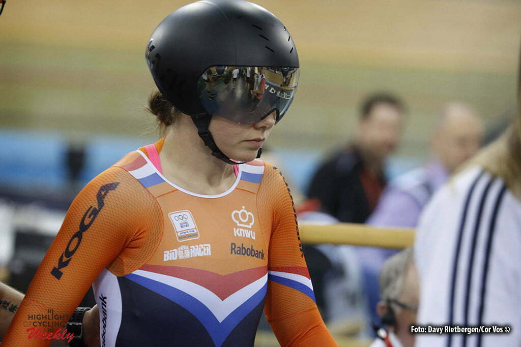 London - Great Brittain - wielrennen - cycling - radsport - cyclisme - Men's Team Sprint - Laurine van Riessen pictured during Worldchampionships Track 2016 in London (GBR) - photo Davy Rietbergen/Cor Vos © 2016