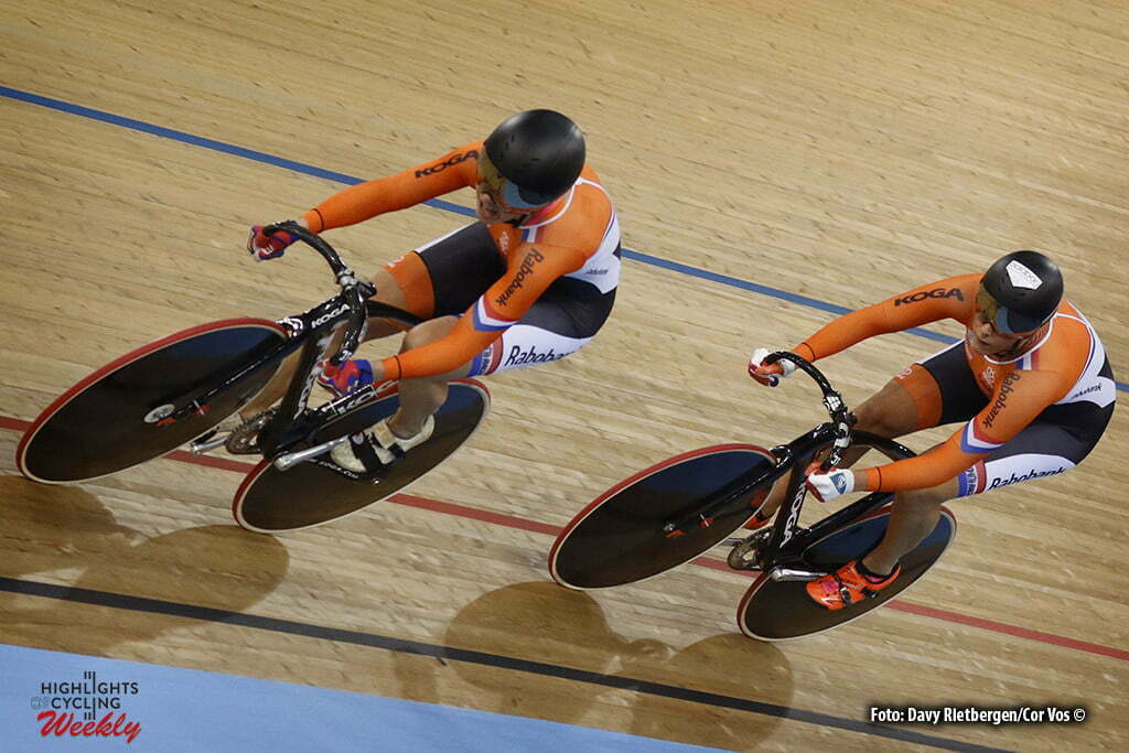 London - Great Brittain - wielrennen - cycling - radsport - cyclisme - Men's Team Sprint - Laurine van Riessen - Elis Ligtlee pictured during Worldchampionships Track 2016 in London (GBR) - photo Davy Rietbergen/Cor Vos © 2016