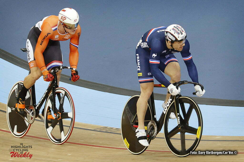 London - Great Brittain - wielrennen - cycling - radsport - cyclisme -Sprint - Jeffrey Hoogland - Francois Pervis pictured during Worldchampionships Track 2016 in London (GBR) - photo Davy Rietbergen/Cor Vos © 2016