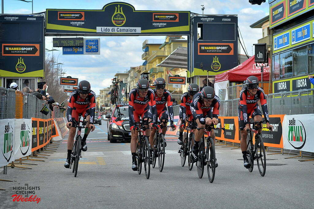 Lido di Camaiore - Italia - wielrennen - cycling - radsport - cyclisme - team BMC Racing pictured during Tirreno Adriatico 2016 - stage 1 from Lido di Camaiore to Lido di Camaiore 22,7 km TTT team Time Trial