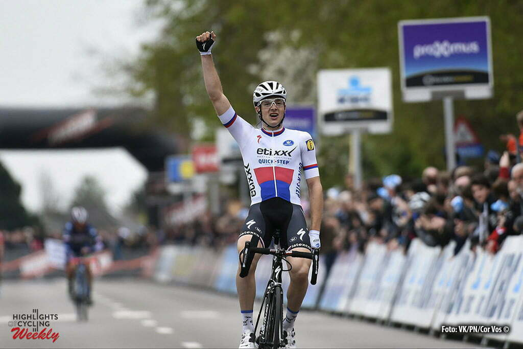 Overijse - Belgium - wielrennen - cycling - radsport - cyclisme - Vakoc Petr (Czech Republic / Team Etixx - Quick Step) winning the 56th Brabantse Pijl cycling race with start in Leuven and finish in Overijse (205 Km) on April 13, 2016 in Overijse , Belgium - photo VK/PN/Cor Vos © 2016