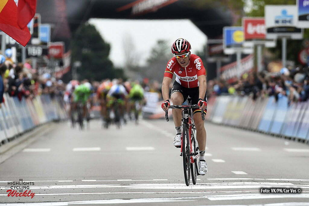 Overijse - Belgium - wielrennen - cycling - radsport - cyclisme - Tony Gallopin (France / Team Lotto Soudal) pictured during the 56th Brabantse Pijl cycling race with start in Leuven and finish in Overijse (205 Km) on April 13, 2016 in Overijse , Belgium - photo VK/PN/Cor Vos © 2016