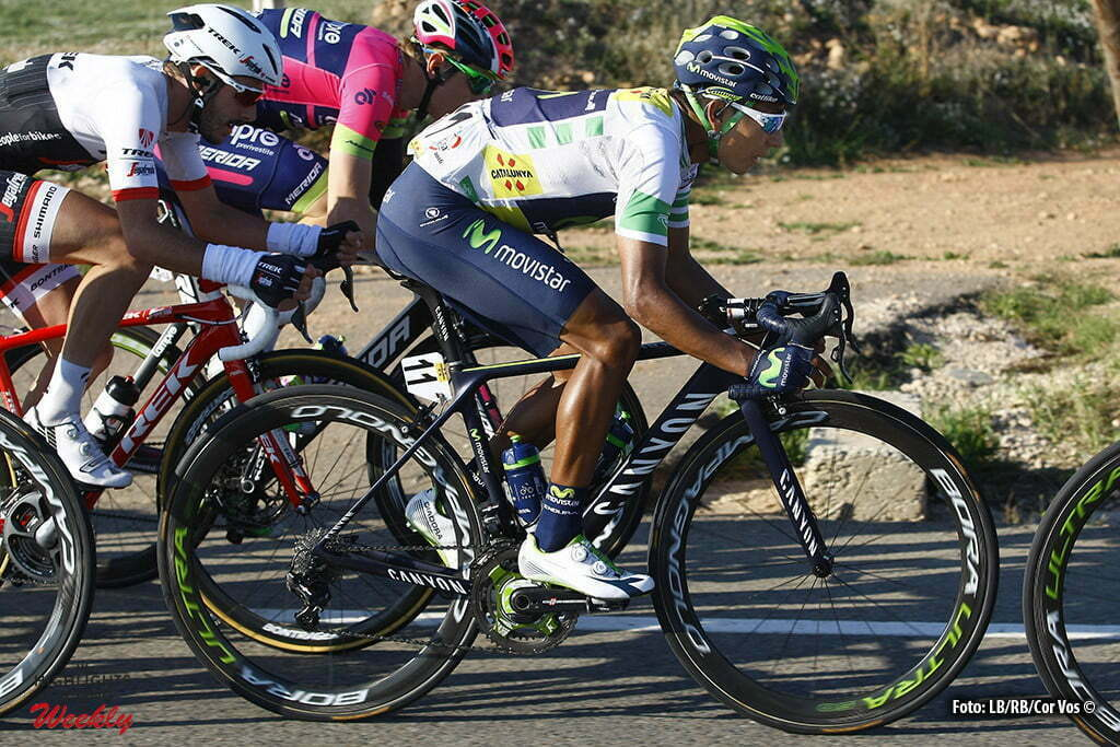 Vilanova i la Geltru - Spain - wielrennen - cycling - radsport - cyclisme - Nairo Quintana (Movistar) pictured during stage 6 of the Volta a Catalunya 2016 from Sant Joan Despi to Vilanova i la Geltru 197.2 km - 26/03/2016 - photo LB/RB/Cor Vos © 2016