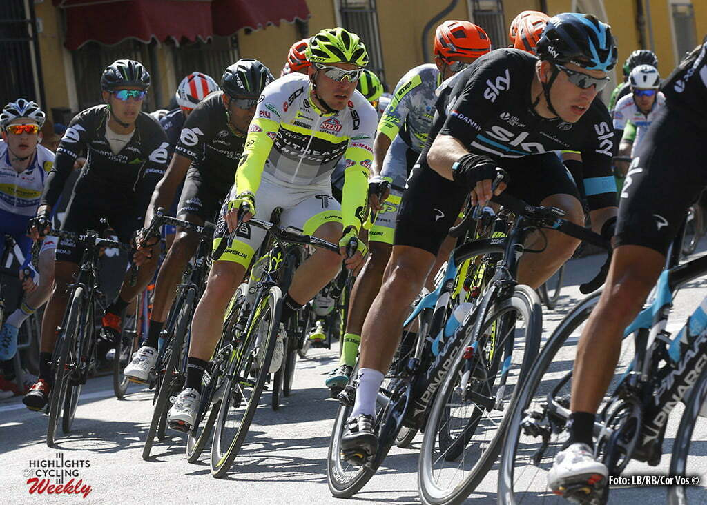 Gatteo - Italia - wielrennen - cycling - radsport - cyclisme - Danny Van Poppel (Netherlands / Team Sky) - Manuel Belletti (Southeast - Venezuela) pictured during Settimana Internazionale di Coppi e Bartali 2016 - stage 1 from Gatteo to Gatteo 96 km - 24/03/2016 - photo LB/RB/Cor Vos © 2016