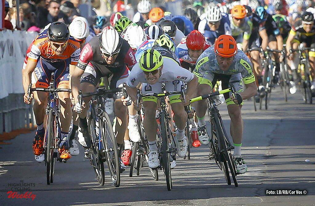 Crevalcore - Italia - wielrennen - cycling - radsport - cyclisme - Jakub Mareczko (Southeast - Venezuela) - Mattia Gavazzi (Amore & Vita - Selle SMP) - Ioannis Tamouridis (Synergy Baku Cycling Project) pictured during Settimana Internazionale di Coppi e Bartali 2016 - stage 3 from Calderara di Reno (Loc. Bargellino) - Crevalcore 172 km - photo LB/RB/Cor Vos © 2016