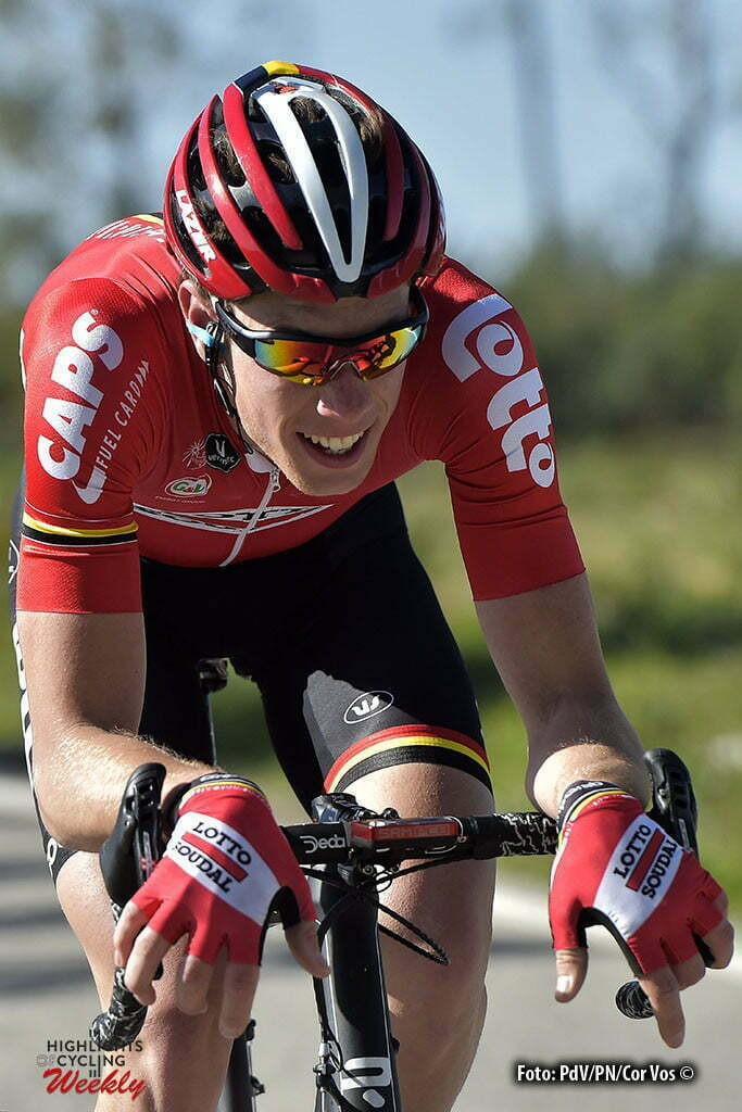 Tavira - Portugal - wielrennen - cycling - radsport - cyclisme - Stig Broeckx (Belgium / Team Lotto Soudal) pictured during stage 4 of the 42nd Tour of Algarve cycling race with start in S. Brss de Alportel and finish in Tavira on February 20, 2016 in Tavira, Portugal - photo PdV/PN/Cor Vos © 2016