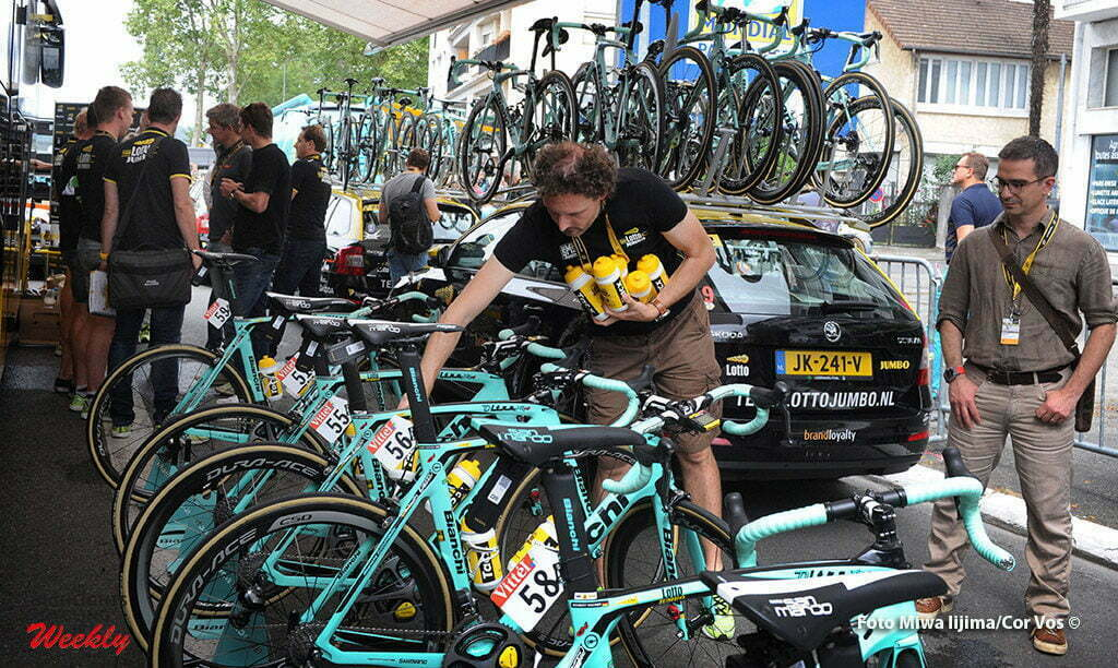 Bagneres-de-Luchon - France - wielrennen - cycling - radsport - cyclisme - Dimitri van Boxstael, soigneur (Team LottoNL - Jumbo) pictured during stage 8 of the 2016 Tour de France from Pau to Bagneres-de-Luchon, 183.00 km - photo Miwa iijima/Cor Vos © 2016
