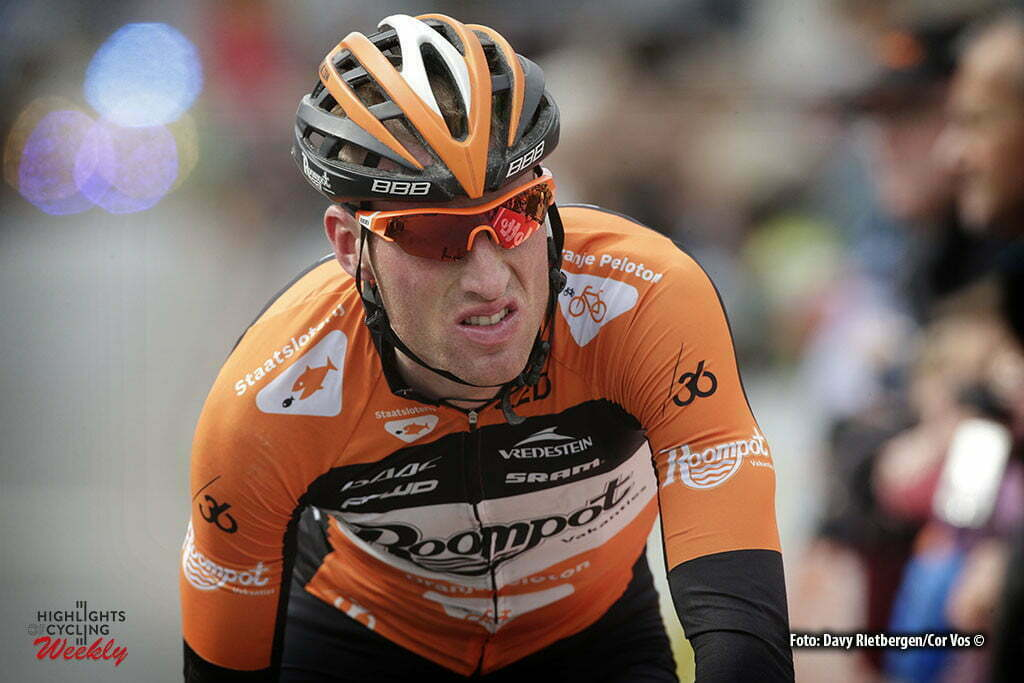 De Panne - Belgium - wielrennen - cycling - radsport - cyclisme - Berden de Vries (Netherlands / Roompot - Oranje Peloton) pictured during Driedaagse De Panne Koksijde 2016 - Stage 3a - from De Panne to De Panne - photo Davy Rietbergen/Cor Vos © 2016