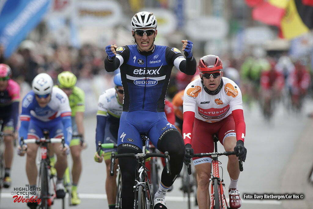 De Panne - Belgium - wielrennen - cycling - radsport - cyclisme - Marcel Kittel (Germany / Team Etixx - Quick Step) - Alexander Kristoff (Norway / Team Katusha) pictured during Driedaagse De Panne Koksijde 2016 - Stage 3a - from De Panne to De Panne - photo Davy Rietbergen/Cor Vos © 2016