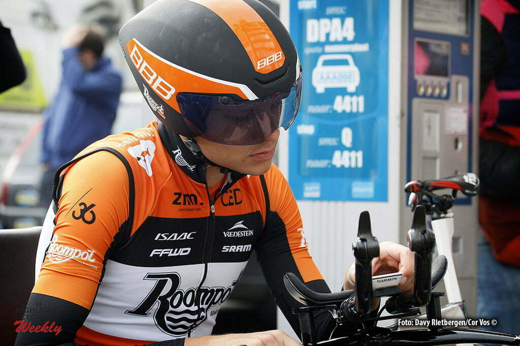 De Panne - Belgium - wielrennen - cycling - radsport - cyclisme - Sjoerd van Ginneken (Netherlands / Roompot - Oranje Peloton) pictured during Driedaagse De Panne Koksijde 2016 - Stage 3b - from De Panne to De Panne ITT Time trial individual - photo Davy Rietbergen/Cor Vos © 2016
