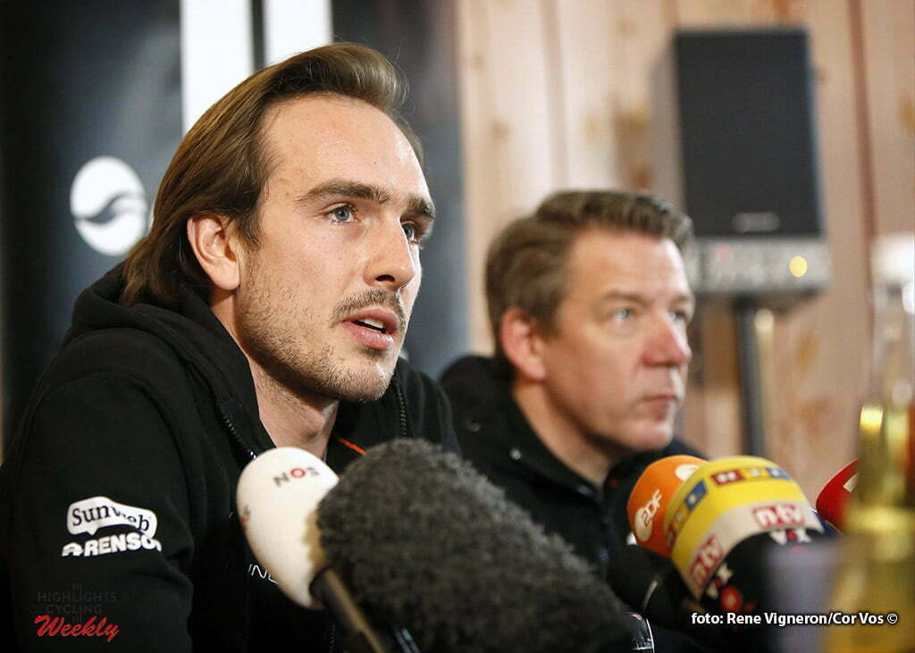 Oberursel - Germany - wielrennen - cycling - radsport - cyclisme - John Degenkolb (Germany / Team Giant - Alpecin) pictured during the poresseconference - recovering from crash at the training scamp in Calpe- photo Cor Vos © 2016
