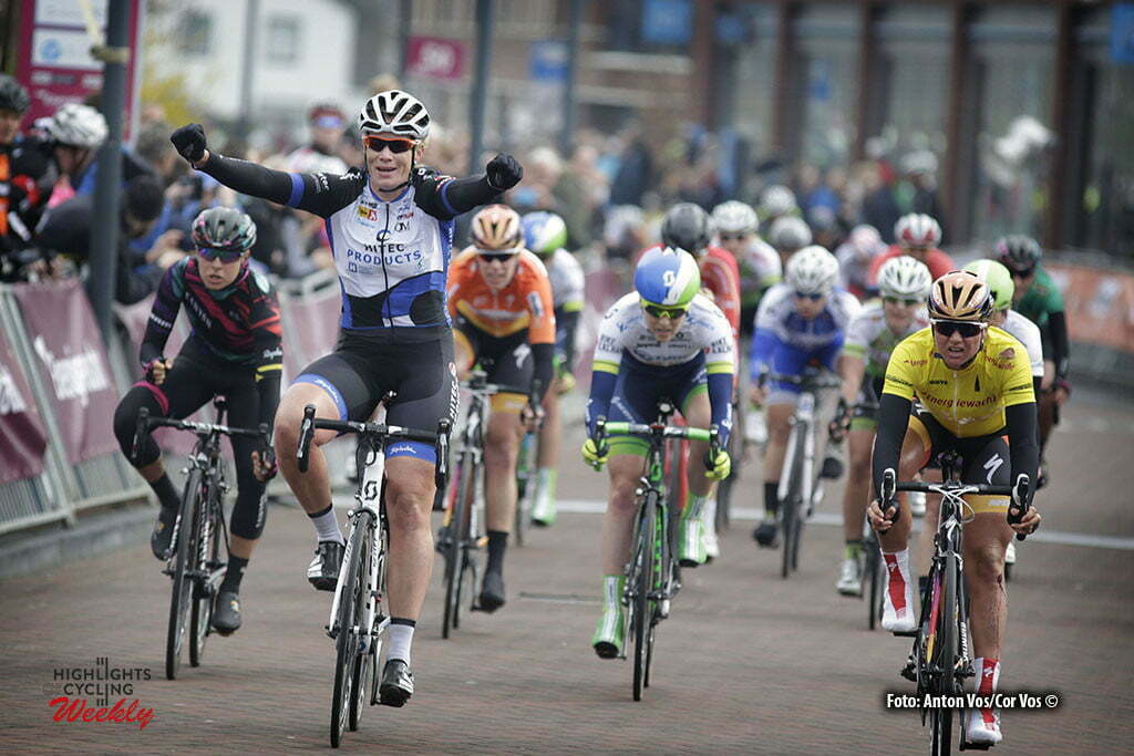 Zuidhorn - Netherlands - wielrennen - cycling - radsport - cyclisme - Wild Kirsten (Netherlands / Hitec Products) - Blaak Chantal (Netherlands / Boels Dolmans Cycling Team) - Guarischi Barbara (Italy / Canyon Sram Racing) - Elvin Gracie (Australia / Orica AIS) pictured during stage 4a of the Energiewacht Tour 2016 - cyclingrace for women from Zuidhorn to Zuidhorn - photo Anton Vos/Cor Vos © 2016