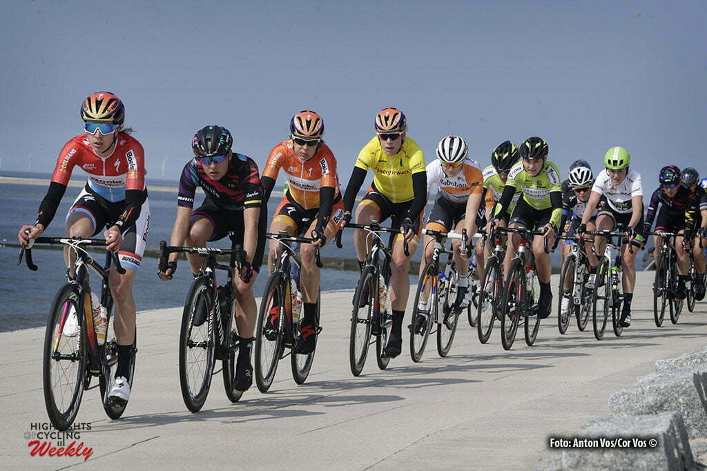 Borkum - Netherlands - wielrennen - cycling - radsport - cyclisme - Majerus Christine (Luxembourg / Boels Dolmans Cycling Team) Guarischi Barbara (Italy / Canyon Sram Racing) Kasper Romy (Germany / Boels Dolmans Cycling Team) Van Dijk Ellen (Netherlands / Boels Dolmans Cycling Team) - Korevaar Jeanne (Netherlands / Rabobank Liv Women Cycling Team) pictured during stage 5 of the Energiewacht Tour 2016 - cyclingrace for women from Borkum to Borkum - photo Anton Vos/Cor Vos © 2016