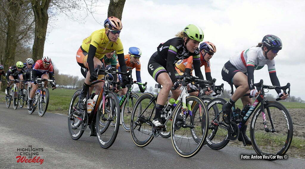 Winsum - Netherlands - wielrennen - cycling - radsport - cyclisme - Cecchini Elena (Italy / Canyon Sram Racing) - Mackaij Floortje (Netherlands / Liv - Plantur) - Van Dijk Ellen (Netherlands / Boels Dolmans Cycling Team) pictured during stage 2 of the Energiewacht Tour 2016 - cyclingrace for women from Winsum to Winsum - photo Anton Vos/Cor Vos © 2016