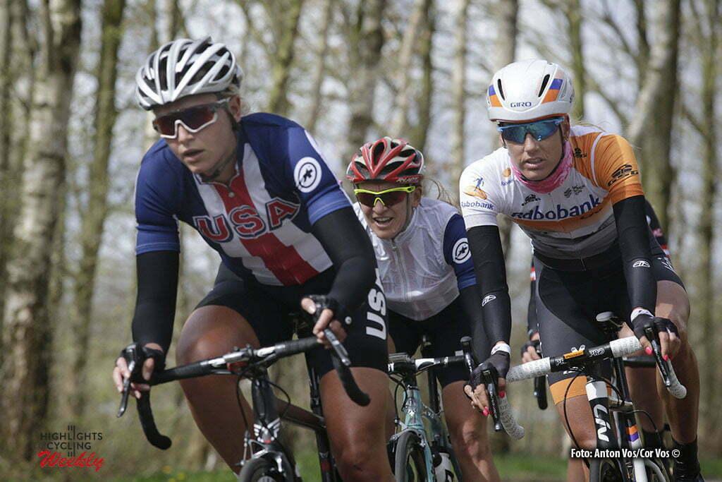 Stadskanaal - Netherlands - wielrennen - cycling - radsport - cyclisme - Dragoo Allie (USA / Twenty 16 Bikerider) - Tenniglo Moniek (Netherlands / Rabobank Liv Women Cycling Team) pictured during stage 3 of the Energiewacht Tour 2016 - cyclingrace for women from Musselkanaal to Stadskanaal - photo Anton Vos/Cor Vos © 2016