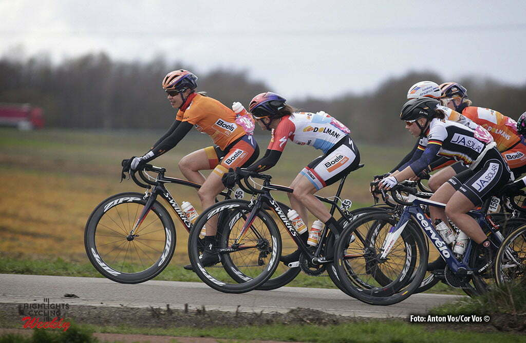 Stadskanaal - Netherlands - wielrennen - cycling - radsport - cyclisme - Kasper Romy (Germany / Boels Dolmans Cycling Team) - Majerus Christine (Luxembourg / Boels Dolmans Cycling Team) Klein Lisa (Germany / Cervelo Bigla) pictured during stage 3 of the Energiewacht Tour 2016 - cyclingrace for women from Musselkanaal to Stadskanaal - photo Anton Vos/Cor Vos © 2016