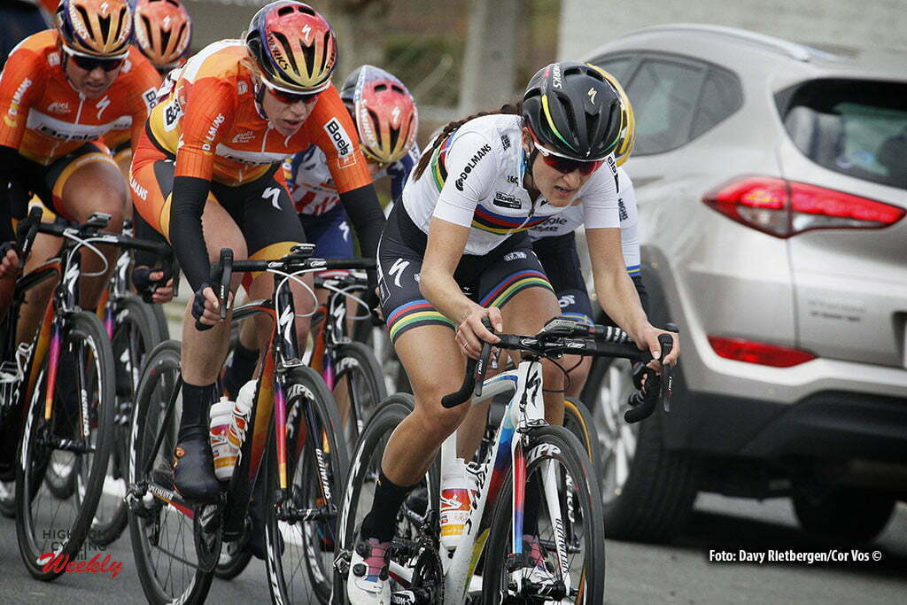 Wevelgem- Belgium - wielrennen - cycling - radsport - cyclisme - Elizabeth Lizzie Armitstead (Great Britain / Boels Dolmans Cycling Team) - Johansson Emma (Sweden / Wiggle High5) - Ellen Skerritt (Australia / Ale - Cipollini) - Chantal Blaak (Netherlands / Boels Dolmans Cycling Team) pictured during Gent - Wevelgem 2016 World Tour women - photo Davy Rietbergen/Cor Vos © 2016