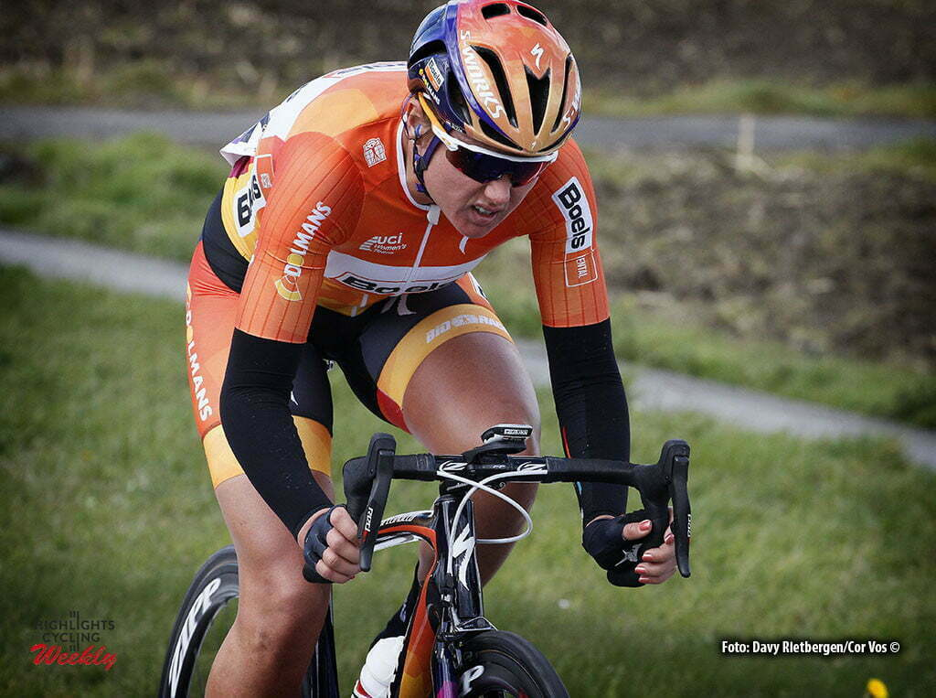 Wevelgem- Belgium - wielrennen - cycling - radsport - cyclisme - Chantal Blaak (Netherlands / Boels Dolmans Cycling Team) pictured during Gent - Wevelgem 2016 World Tour women - photo Davy Rietbergen/Cor Vos © 2016