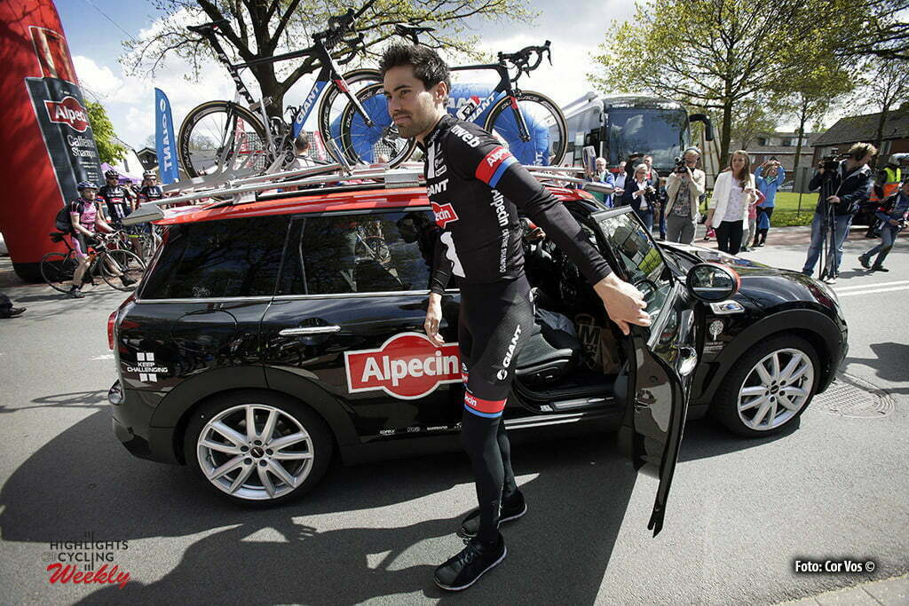 Otterlo - Netherlands - wielrennen - cycling - radsport - cyclisme - Tom Dumoulin (Netherlands / Team Giant - Alpecin) pictured during Greet and meet team Giant - Alpecin 2 day's before the start of the Giro D'Italia in Otterlo, the Netherlands - photo Carla&Cor Vos © 2016