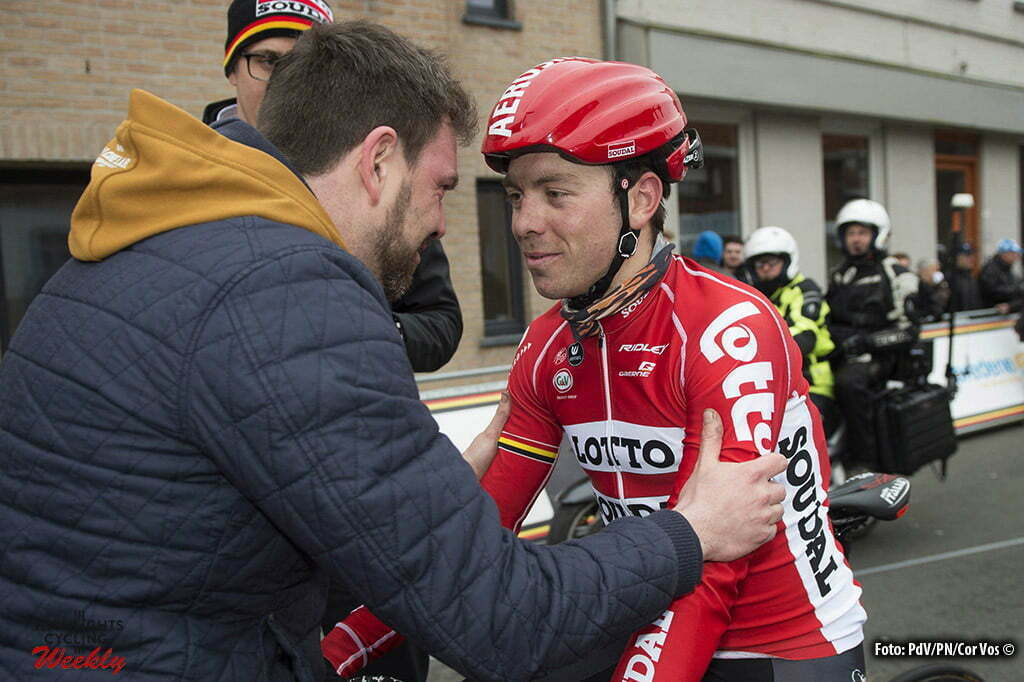 Handzame - Belgium - wielrennen - cycling - radsport - cyclisme - Kris Boeckmans (Belgium / Team Lotto Soudal) - His first race after his fall pictured during Handzame Classic - photo FvE/PN/Cor Vos © 2016
