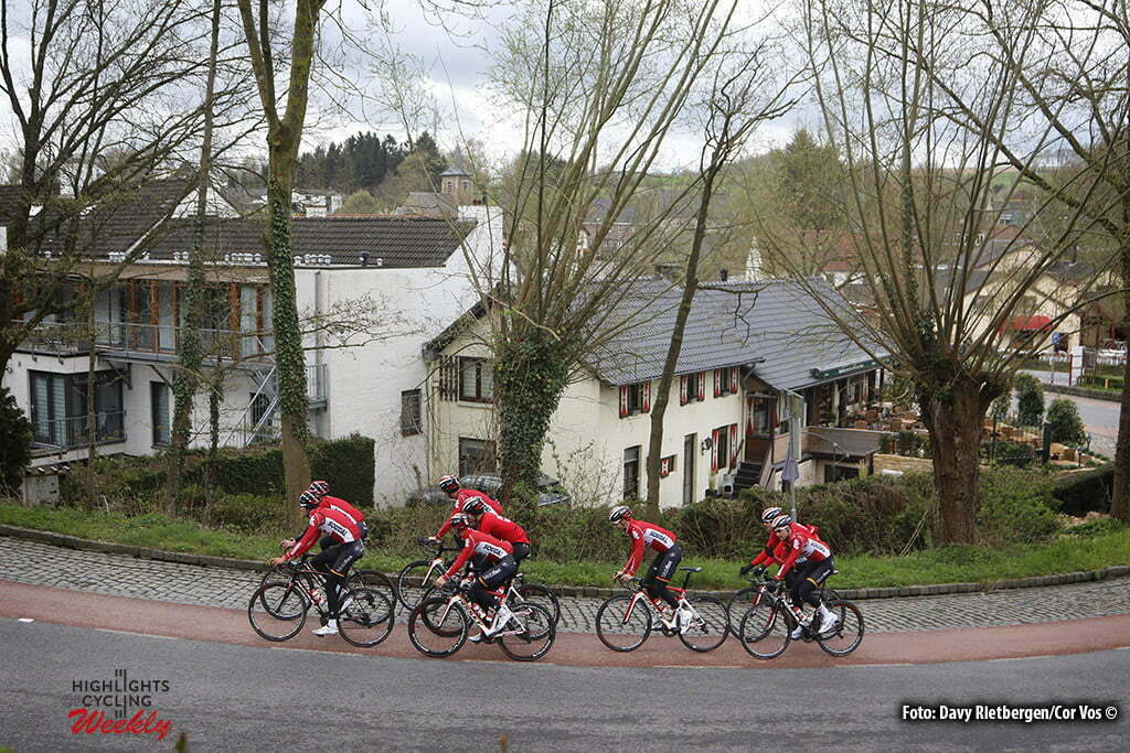 Maastricht - Netherland - wielrennen - cycling - radsport - cyclisme - illustration - sfeer - illustratie Lotto Soudal pictured during recon - verkenning parcours Amstel - Gold Race 2016 - photo DavyCor Vos © 2016