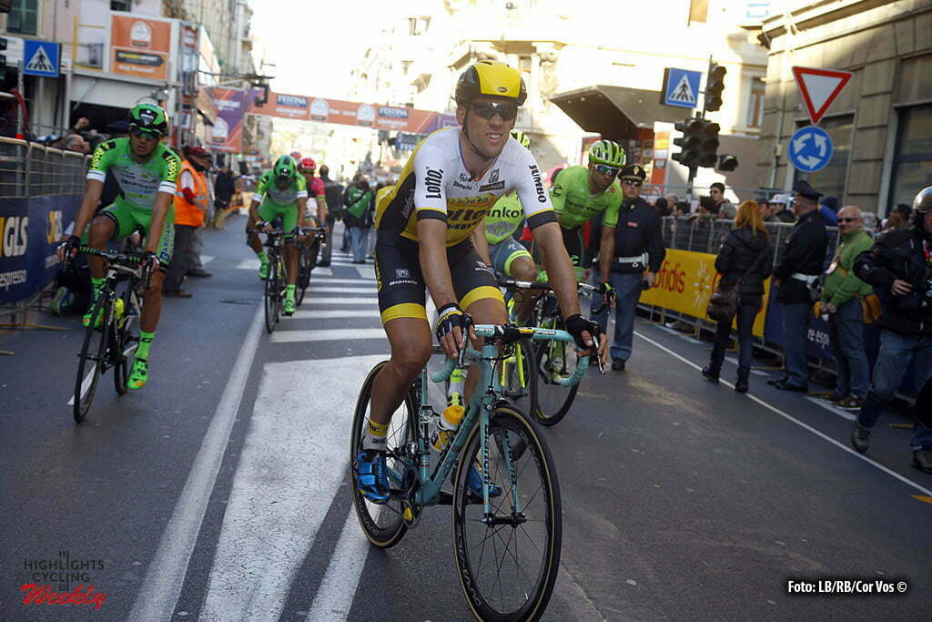 Sanremo - Italy - wielrennen - cycling - radsport - cyclisme - Maarten Tjallingii (Netherlands / Team LottoNL - Jumbo) pictured during Milano - Sanremo World Tour cycling race - photo LB/RB/Cor Vos © 2016