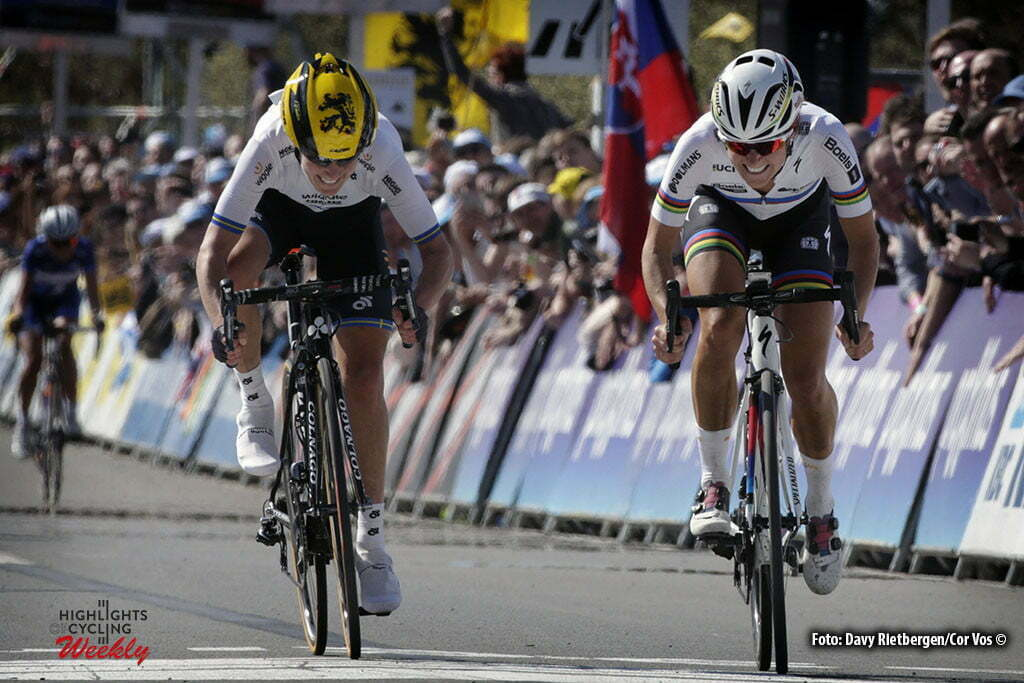 Oudenaarde - Belgium - wielrennen - cycling - radsport - cyclisme - Johansson Emma (Sweden / Wiggle High5) - Elizabeth Lizzie Armitstead (Great Britain / Boels Dolmans Cycling Team) pictured during the women Ronde van Vlaanderen - Tour de Flanders - from Oudenaarde to Oudenaarde - WT - world Tour photo Davy Rietbergen/Cor Vos © 2016