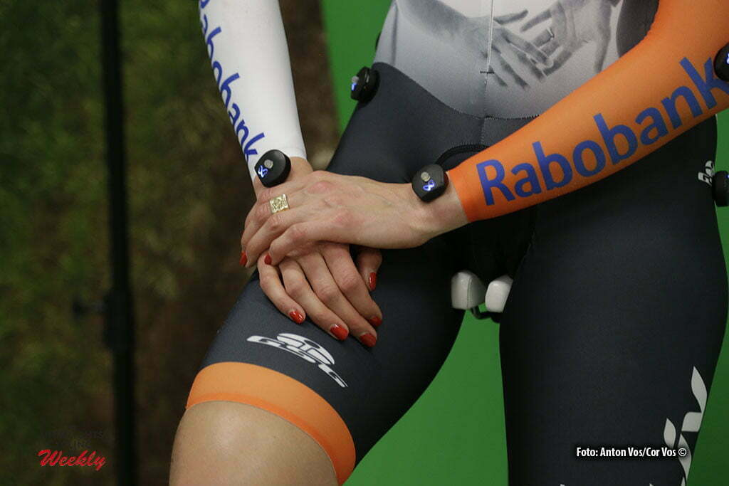 Eindhoven - Knetemann Roxane (Netherlands / Rabobank Liv Women Cycling Team) illustration - sfeer - illustratie GSG pictured during aero position test in Cycle Performance Centre in Eindhoven - photo: Anton Vos/ Cor Vos © 2016