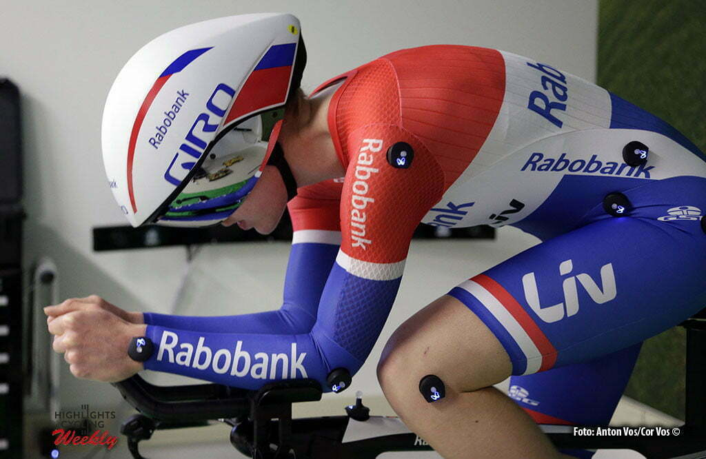 Eindhoven - Van der Breggen Anna (Netherlands / Rabobank Liv Women Cycling Team) illustration - sfeer - illustratie pictured during aero position test in Cycle Performance Centre in Eindhoven - photo: Anton Vos/ Cor Vos © 2016