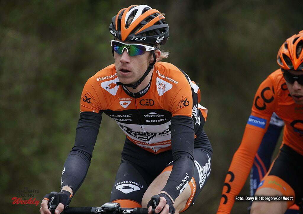 Eijsden - Netherlands - wielrennen - cycling - radsport - cyclisme - Duijn Huub (Netherlands / Roompot - Oranje Peloton) pictured during the Volta Limburg Classic 2016 - photo Davy Rietbergen//Cor Vos © 2016