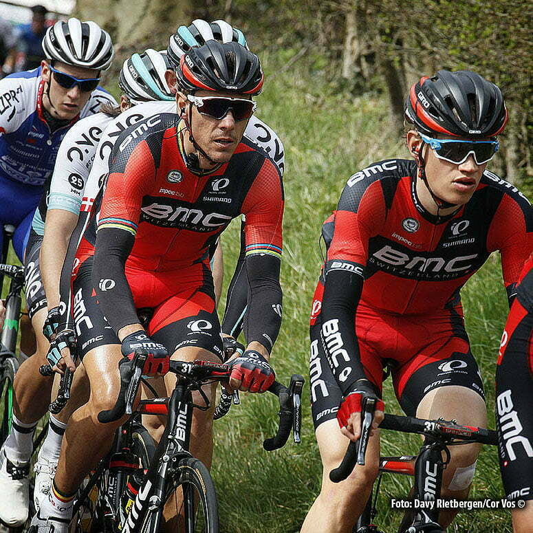 Eijsden - Netherlands - wielrennen - cycling - radsport - cyclisme - Gilbert Philippe (Belgium / BMC Racing Team) - Gerts Floris (Netherlands/BMC Racing Team) pictured during the Volta Limburg Classic 2016 - photo Davy Rietbergen//Cor Vos © 2016