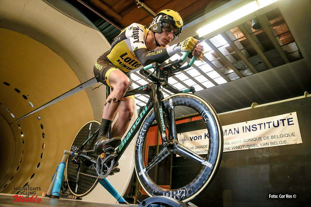 Waterloo - Belgium - wielrennen - cycling - radsport - cyclisme - Jos Van Emden (Netherlands / Team LottoNL - Jumbo) pictured during windtunnel test bij het Von Karman Institute in Waterloo, Belgium - photo JPS/PN/Cor Vos © 2016