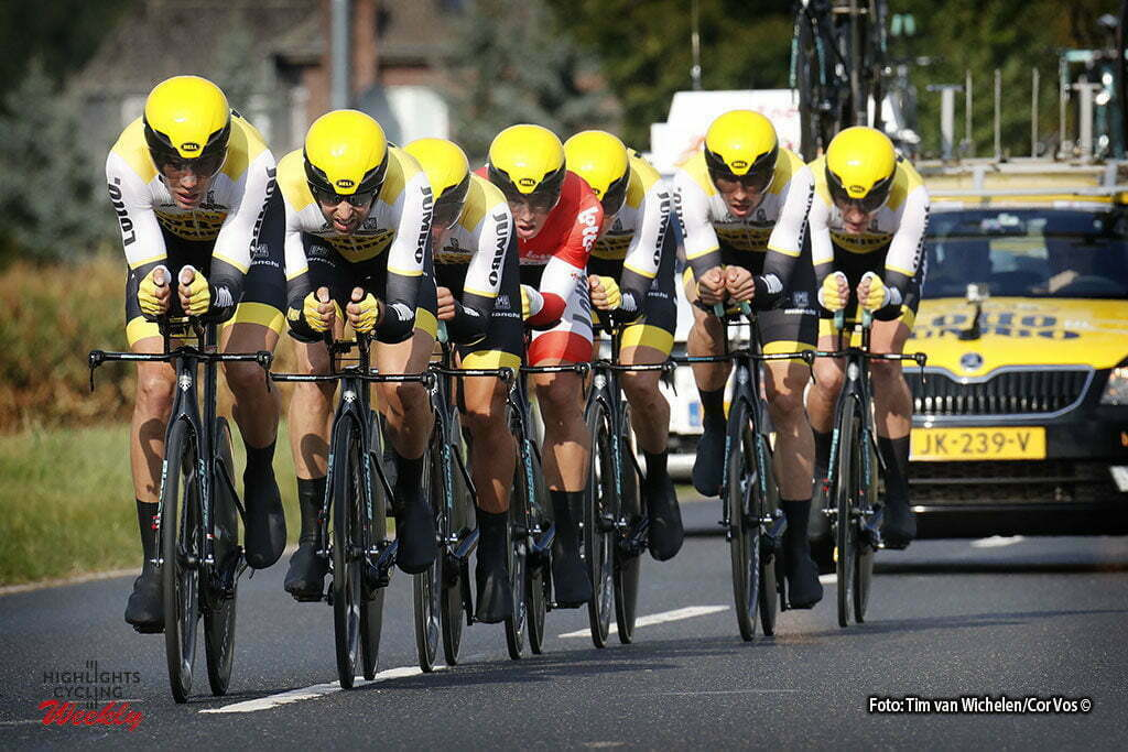 Sittard-Geleen - Netherlands - wielrennen - cycling - radsport - cyclisme - Team Lotto NL - Jumbo pictured during Eneco Tour stage -5 - UCI World Tour) from Sittard- Sittard-Geleen to Sittard-Geleen - TTT Team Time Trial - photo Davy Rietbergen/Miwa iijima//Cor Vos © 2016