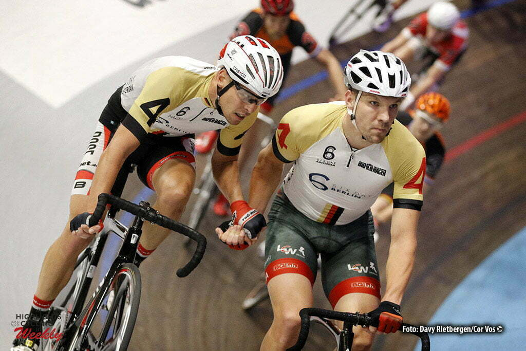 Amsterdam - Netherlands - wielrennen - cycling - radsport - cyclisme - Leif Lampater (GER) - Marcel Kalz (GER) pictured during 6 Six Day Amsterdam day 5 - photo Davy Rietbergen/Cor Vos © 2016