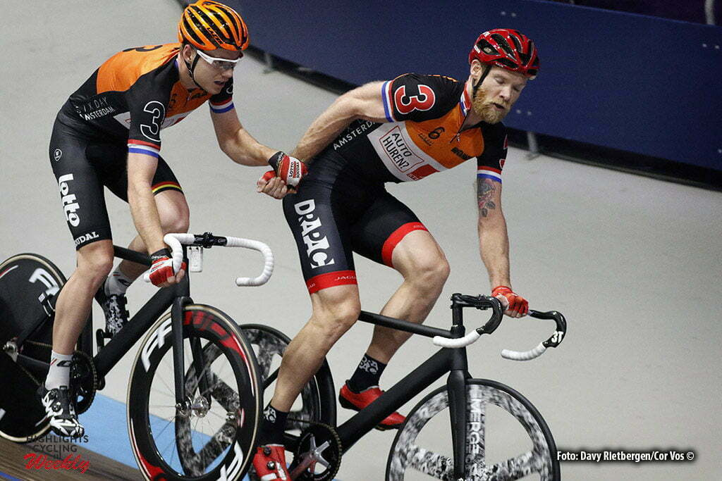 Amsterdam - Netherlands - wielrennen - cycling - radsport - cyclisme - Jens Mouris (NED) - Pim Ligthart (NED) pictured during 6 Six Day Amsterdam day 5 - photo Davy Rietbergen/Cor Vos © 2016