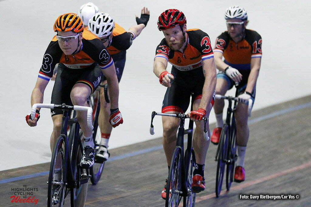 Amsterdam - Netherlands - wielrennen - cycling - radsport - cyclisme - Pim Ligthart (NED) - Jens Mouris (NED) pictured during 6 Six Day Amsterdam day 6 - photo Davy Rietbergen/Cor Vos © 2016