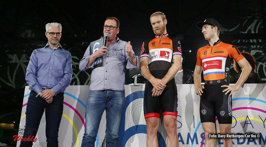 Amsterdam - Netherlands - wielrennen - cycling - radsport - cyclisme - Robert Slippens (NED) - Jens Mouris (NED) - Yoeri Havik (NED) pictured during 6 Six Day Amsterdam day 6 - photo Davy Rietbergen/Cor Vos © 2016