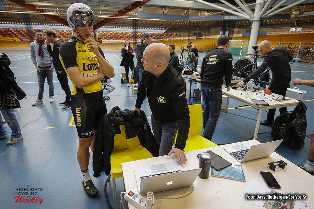 Alkamar - Netherlands - wielrennen - cycling - radsport - cyclisme - illustration - sfeer - illustratie Amund Grondahl JANSEN (Norway / Team Lotto NL - Jumbo) pictured during Aerodynamica test team LottoN L-Jumbo on the Velodrome in Alkmaar, the Netherlands - photo Davy Rietbergen/Cor Vos © 2017