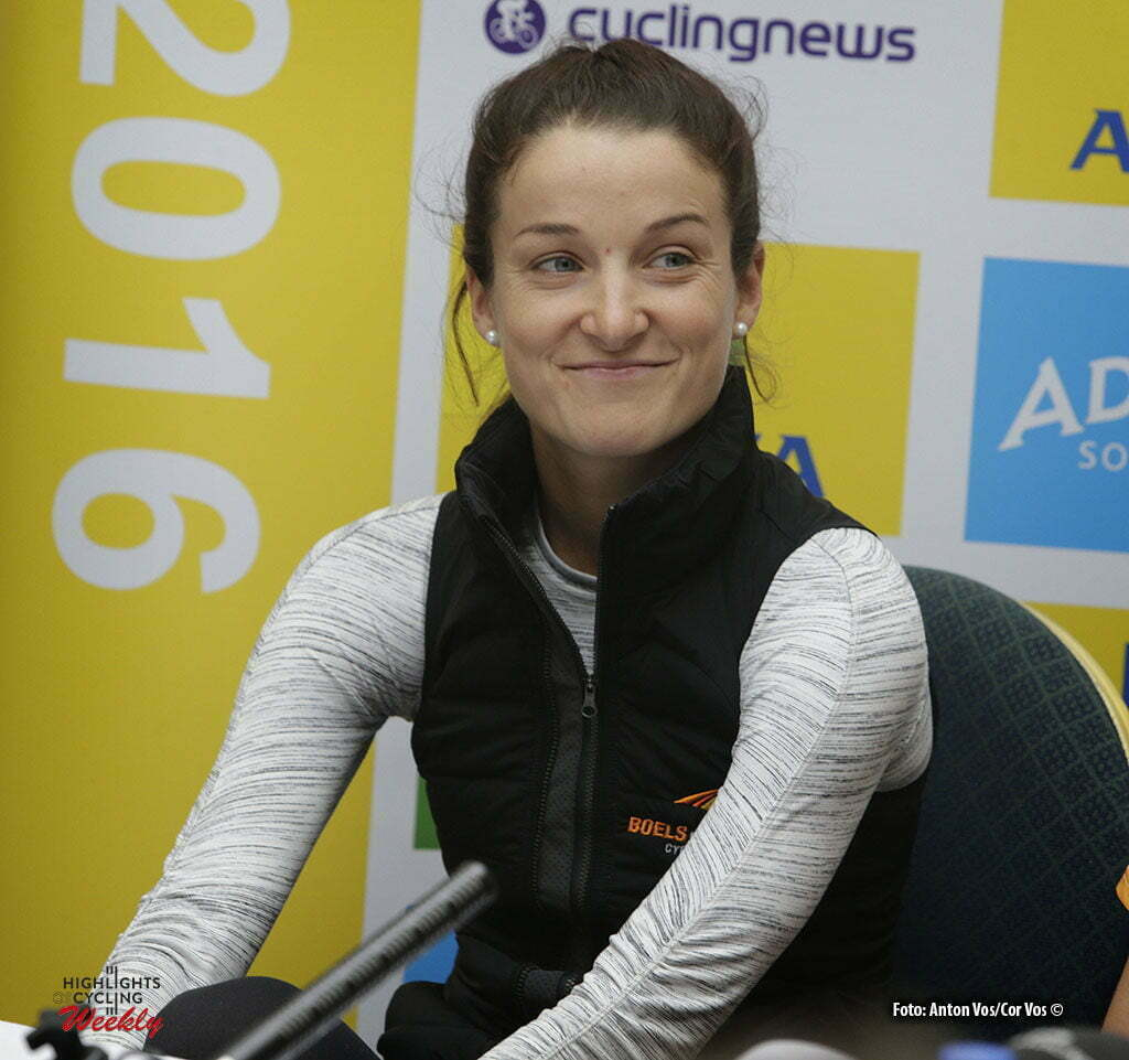 Norwich - England - wielrennen - cycling - radsport - cyclisme - Armitstead Elizabeth Lizzie (Great Britain / Boels Dolmans Cycling Team) pictured during press conference Women's Tour of Great Britain - photo Anton Vos/Cor Vos © 2016