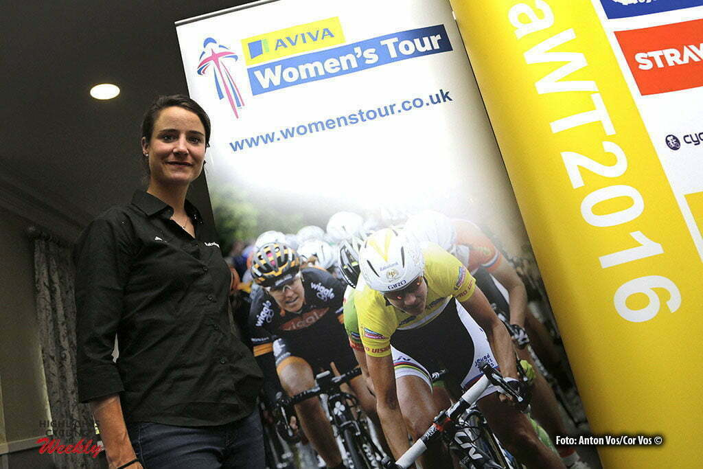 Norwich - England - wielrennen - cycling - radsport - cyclisme - Vos Marianne (Netherlands / Rabobank Liv Women Cycling Team) pictured during press conference Women's Tour of Great Britain - photo Anton Vos/Cor Vos © 2016