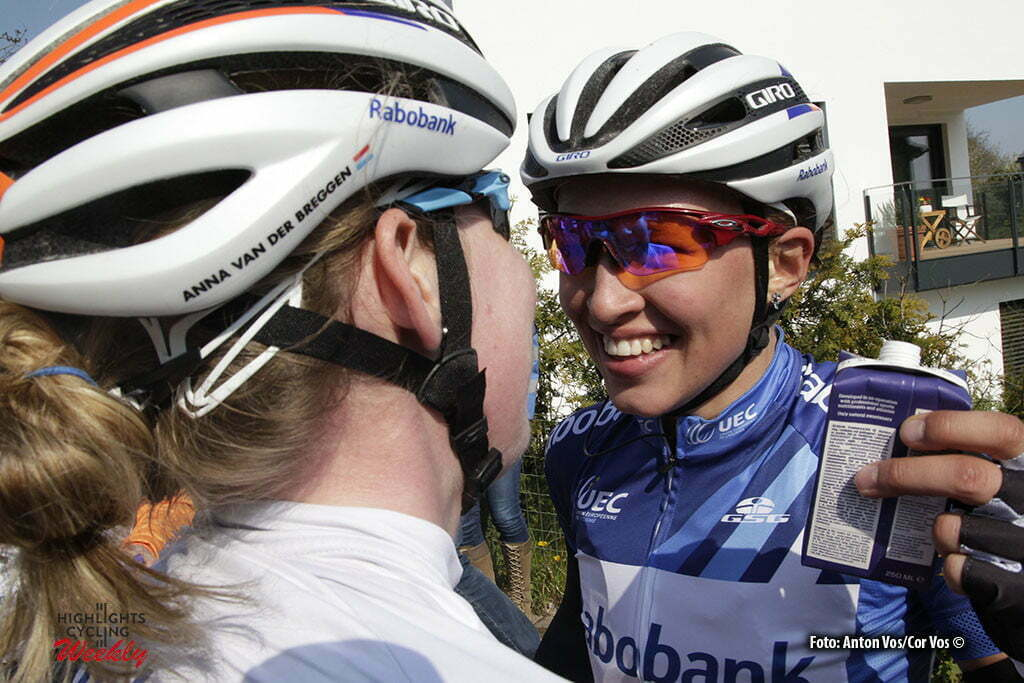 Garnich - Luxembourg - wielrennen - cycling - radsport - cyclisme - Niewiadoma Katarzyna Kasia (Poland / Rabobank Liv Women Cycling Team) - Van der Breggen Anna (Netherlands / Rabobank Liv Women Cycling Team) pictured during Festival Elsy Jacobs 2016 - stage 2 - womens cyclingrace in Garnich - photo Anton Vos/Cor Vos © 2016