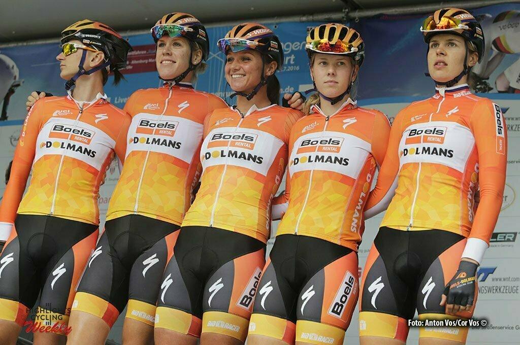 Gotha - Germany - wielrennen - cycling - radsport - cyclisme - Boels Dolmans Cycling Team pictured during stage 1 of the Thuringen - Rundfahrt for women Rund um Gotha - photo Anton Vos/Cor Vos © 2016